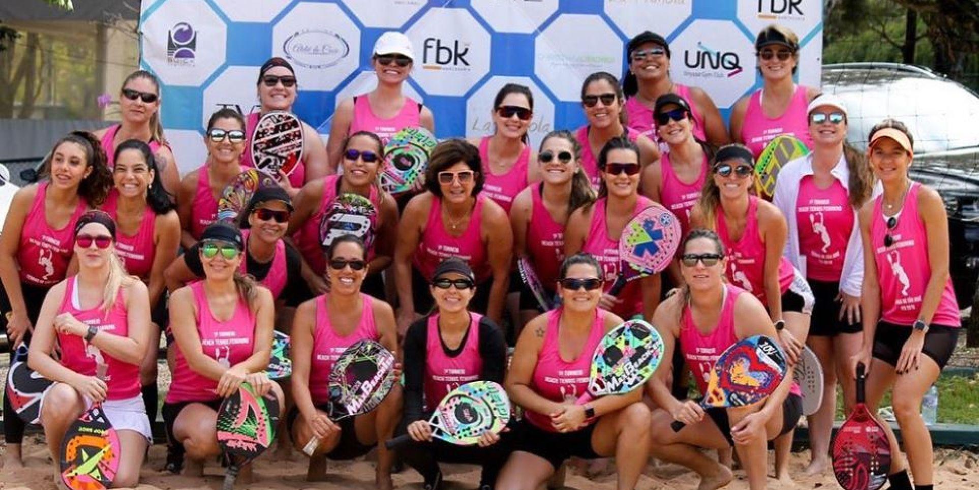 Torneio Feminino de Beach Tennis realizado nas Terras de São José em 2019