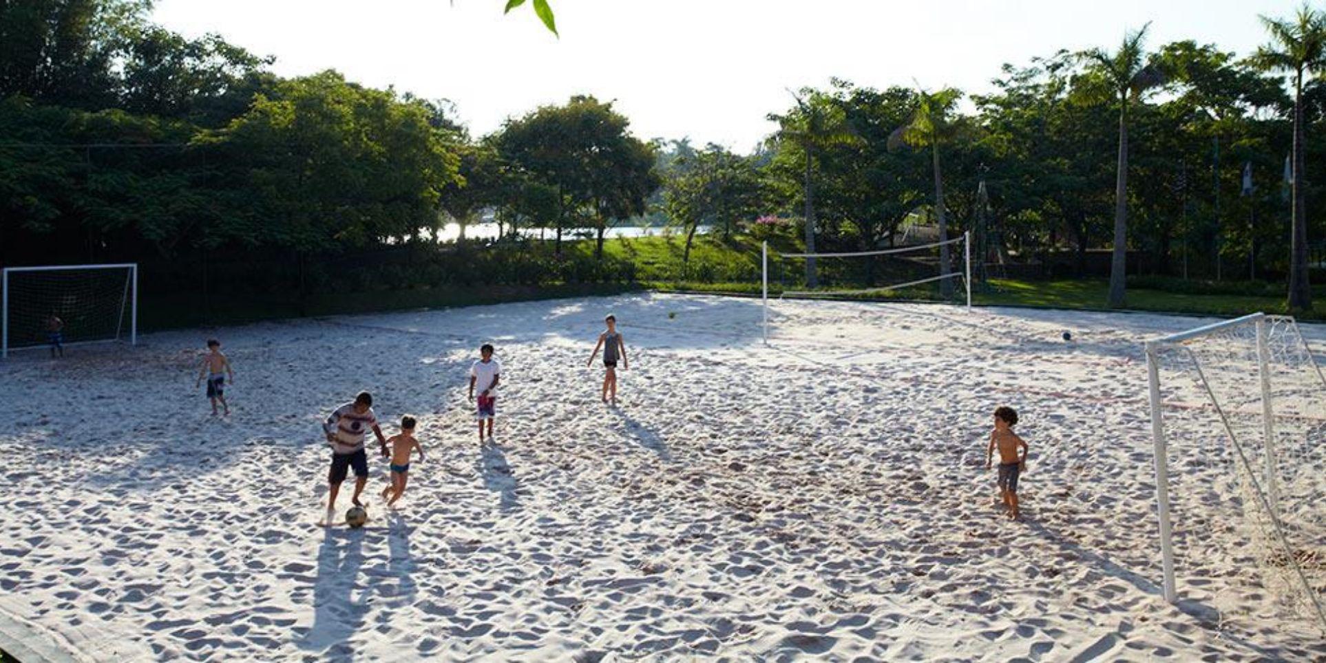Quadra de areia e Beach Tênis
