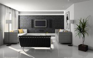 Decoração de interiores - Sala decorada