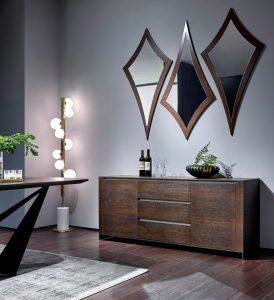 Como usar espelhos decorativos - Espelho decorado com moldura