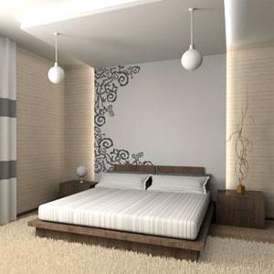 Decoração de casas e apartamentos com papel de parede - Papel de parede no quarto