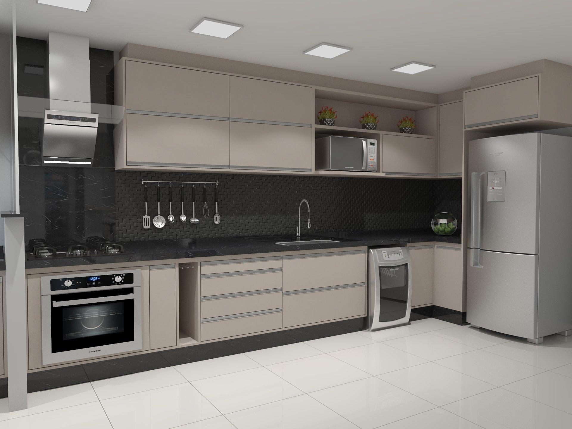 Decoração de cozinha planejada - Cozinha planejada