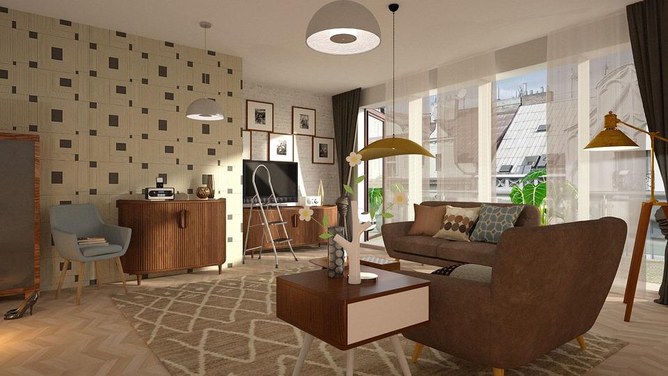 Decoração de casas e apartamentos com papel de parede - Papel de parede combinando com o tapete