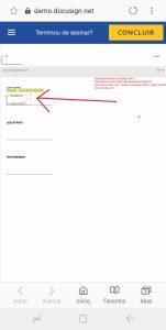 Passo a Passo - Assinatura eletrônica do contrato utilizando o aplicativo owli - Concluir processo
