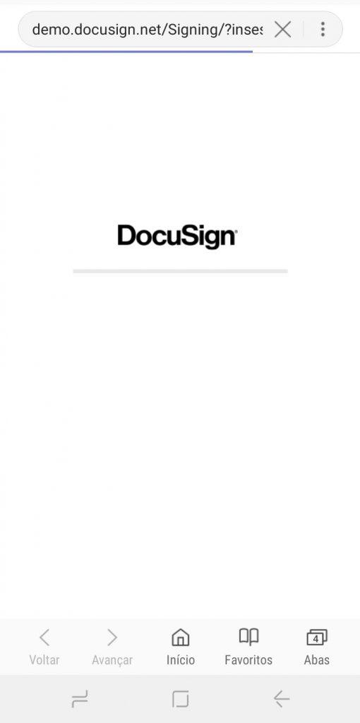 Passo a Passo - Assinatura eletrônica do contrato utilizando o aplicativo owli- DocuSign