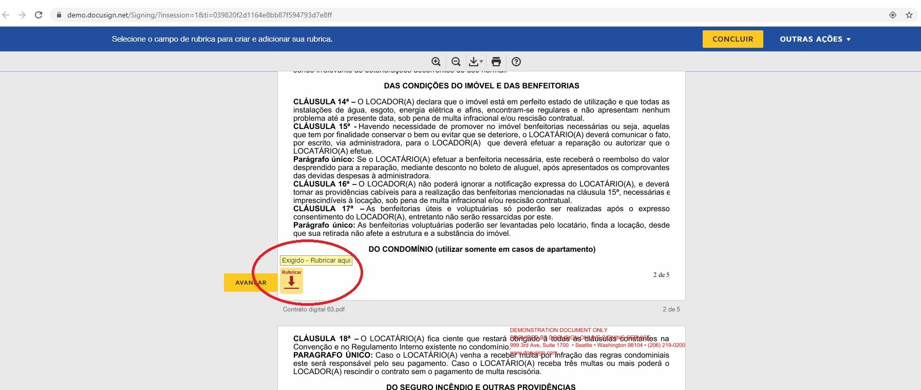 Passo a Passo - Assinatura eletrônica do contrato utilizando o e-mail - Rubrica