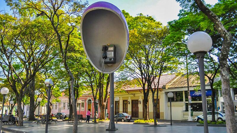 Orelhão da Praça da Matriz - Itu